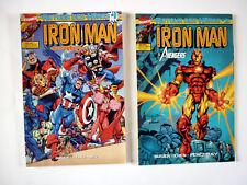 Lot de 2 comics Le retour des heros IRON MAN AVENGERS N° 1 et 2 Marvel 1999