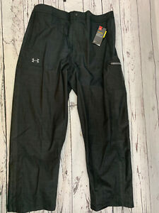 Under Armour UA ArmourStorm Infrared Waterproof Black Pants Mens Size M $130 NWT