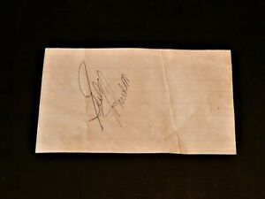 Gus Johnson Signed 3x5 Cut Index Card HOF Bullets Autograph Auto PSA Guarantee