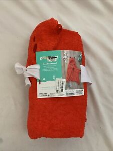 """PILLOWFORT Hooded Crab Bath Towel for Kids and Toddler 25"""" X 50"""" 100% Cotton"""