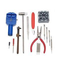 13/19Pcs Watch Repair Tool Kit Back Case Opener Remover Watch Spring Pin Bar Set