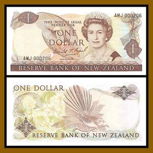 New Zealand 1 Dollar, ND 1989-1992 P-169c Queen Elizabeth II Low S/N 000206 AU