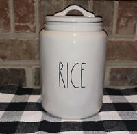 """NEW Rae Dunn Artisan Collection By Magenta """"RICE""""  LL Large Canister HTF"""