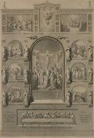 NEUREUTER, Altardarstellung mit Szenen der Passion Christi, 19. Jh., Stahlstich