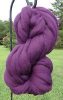 Purple Grape MERINO  Wool Top Roving-Spin into Yarn Needle Felt wet felt Craft