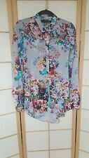 Rare River Island silky floral long sleeve long shirt size 8