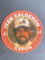 Ivan Calderon - 1992 7-11 Slurpee Baseball Superstar Action Coin - Expos