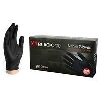 NITRILE Disposable Powder Free Latex Free gloves  Medium Black - 200 Pcs