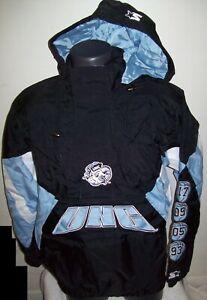 UNC North Carolina TAR HEELS Hooded STARTER CHAMPIONSHIP Jacket S  2X