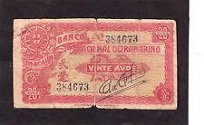 Macau 20 avos 1944  P-20   Fair/Good