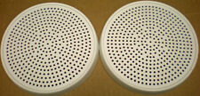 """4 SPEAKER GRILLS, COVERS, SCREENS, OffWhite, 6.5"""" Round, for 5""""- 5.25"""" Speakers"""