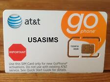US USA AT&T STANDARD SIM CARD FOR IPHONE SMARTPHONE AMERICAS BIGGEST NETWORK