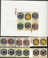 1987 Bulgaria Error Imperforated Bees and Plants  pair + Min. sheet MNH ** RRRRR