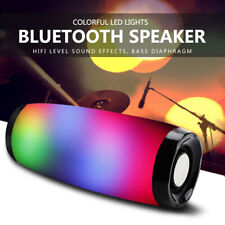 Portable Led Speaker Bluetooth Wireless Column Boom Box Outdoor Bass HIFI TF FM
