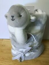 Carter's Just One You Gray Security Baby Blanket & Soft Lamb Rattle  New