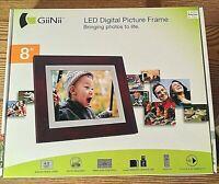 GiiNii Led 8 inch Digital Picture Frame Plug & Play Remote control NIB