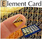 Element Card & 1 Gram 999.9 Pure Solid Fine Gold Bullion Valcambi Combibar Bar