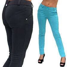 Markenlose bodenlange Damen-Leggings aus Polyester ohne Muster