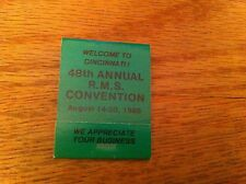 RMS Vintage Convention Matchbook Custom Cabinetry 1988 Cincinnati Ohio R.M.S.