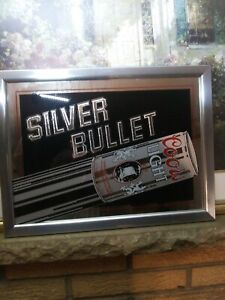 1983 Coors Light Silver Bullet Beer Bar Sign Mirror for your man cave!
