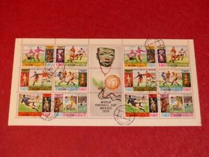 World Cup Football Mexico 1970 Bloc Full (12 Stamps) Crew Al Khaima