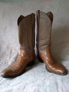 VTG Men's Unbranded Brown Leather Cowboy Boots Size 10 D Pre-Owned