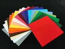 """12"""" Felt Squares (30 cm) Pack of 20 in assorted colours"""