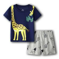 Giraffe Clothes Suit For Boy Baby Tee Shirts Shorts Pant Tops Jumpsuits