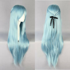 "Sword Art Online Asuna Yuuki Braided Light Blue Woman Fashion Cosplay wig 33"""
