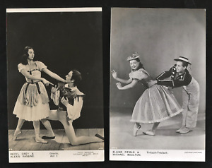 E.FIFIELD. A.RASSINE. B.GREY. M.BOULTON. TWO 1940's PHOTOS. SADLERS WELLS BALLET