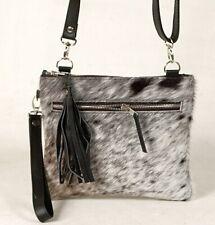 Real Cowhide Cross body Purse Handbag & Hand Clutch  Cow Hide Leather  CC-344