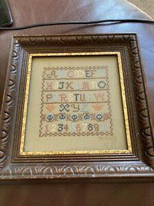 Vintage sampler alphabet and numbers