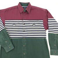 vintage 90s PANHANDLE SLIM Color Block Long Sleeve Button Shirt MEDIUM western