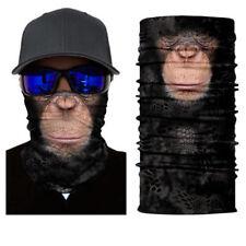 Animal Gorilla Face Shield Protective Balaclava Neck Gaiter Headwear UV Scarf