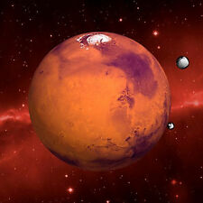 "MARS - 8.25"" X 8.25"" - 3D Lenticular Greeting Card - Excellent to Hang"