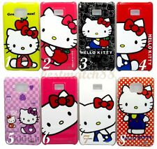 FOR SAMSUNG GALAXY S2 cute hello kitty purple hot pink white for i9100 / i777