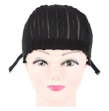 Stretchable Cornrow Braided Wig Cap For Crochet With Adjustable Straps