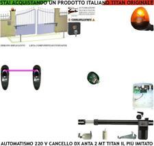 KIT PISTONE APRICANCELLO 2 MT MOTORE 220 V DX SBLOCCO RADIOC FOTOC FAROLED SELET