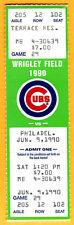 FULL SEASON TICKET! RYNE SANDBERG HR #153...6/9/90 CUBS/PHILLIES