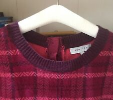 Warm and cosy Kew Jumper XL/16 Wool Coral Pink & Burgundy