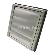 """Stainless Steel Square Air Vent Grill 100 mm 4"""" - Extractor - Wall Vent Gravity"""