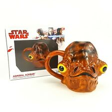 Star Wars Admiral Ackbar 3D Ceramic 20oz Sculpted Mug Cup NEW Disney