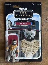 Vintage Custom Carded Star Wars A-Team Action Figure Ewok Teebo Mr. T Barracus