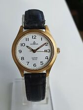 Dugena Saphir Ladies Wrist Watch Damen uhr Gold filled 28mm
