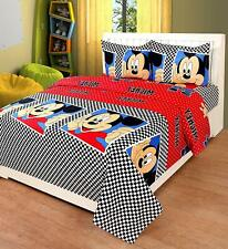 Hind Weave Microfiber Micky Mouse Cartoon Double Bedsheet 2 Pillow Covers 144 TC