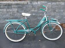 Vintage 1950 FleetWing Womens Tank Style Bicycle with Horn and Space Age Light