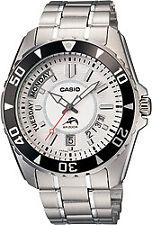 Casio Pre Oceanus Duro Black Bezel White Dial Stainless Steel Watch MDV-103D-7AV