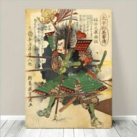 "Vintage Japanese SAMURAI Warrior Art CANVAS PRINT 8x10""~ Kuniyoshi Hero #217"