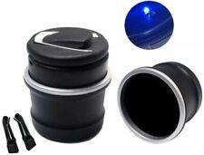 LED Aschenbecher Blaue Licht Beleuchtung Auto Becher Gluttöter Kippentötter für