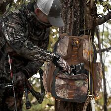 Treestand Backpack Quiet Hunting Gear Pack Stand Deer Hunting Camo Bow Rifle Pk